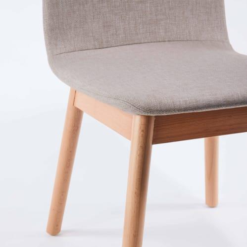 Bunny Dining Chair - Beige / Beech