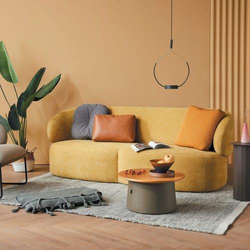 Long 3 Seater Sofa - Yellow