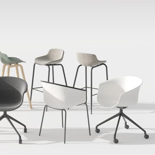 Queen Office Chair - White / Black