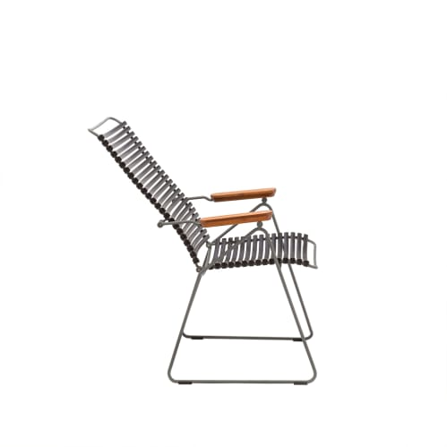 Click Outdoor Adjustable Lounge Chair - Black