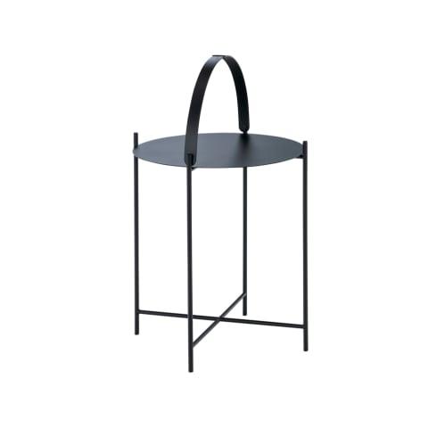 Edge Tray Side Table 46cm -  Black
