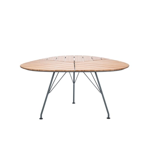 Leaf Outdoor Dining Table - Bamboo/Dark Grey