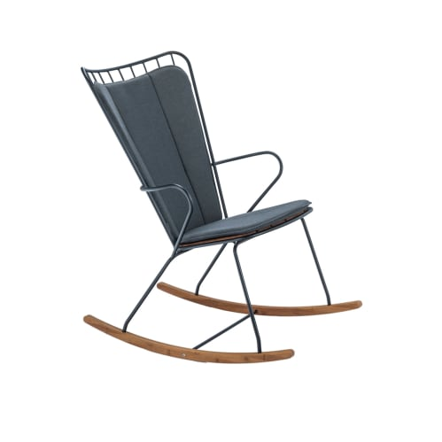 Paon Outdoor Rocking Chair - Bamboo/Black