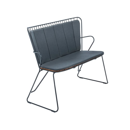 Paon Outdoor Bench - Bamboo/Black