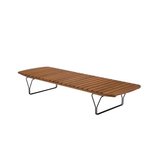 Molo Outdoor Sun Lounge - Bamboo/Black