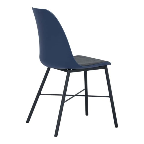 Set of 2 - Rena Dining Chair - Black/Blue