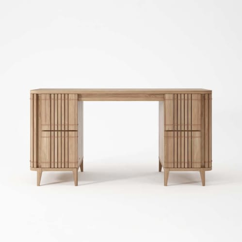 Koppar Desk - Patina Oak