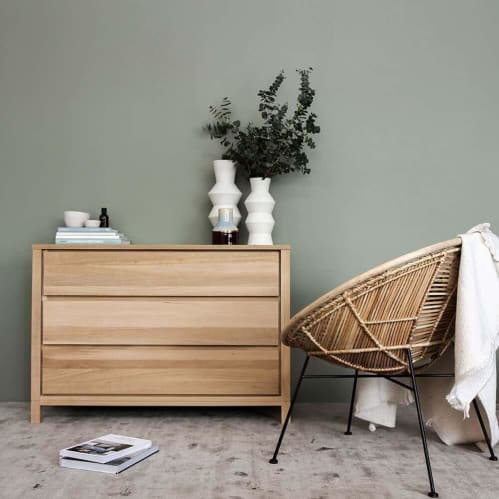 Solid Chest 3 Drawers - Oak