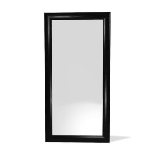 Vintage Floor Mirror - Satin Black