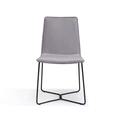 Instil Dining Chair - Luxe Velvet Cool Grey 14