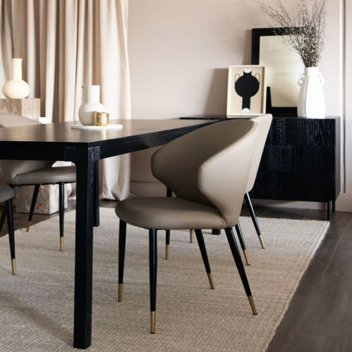 Express Dining Chair - Taupe Leather