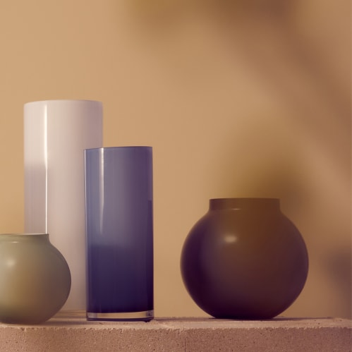 Opal Ball Vase Medium - Ash