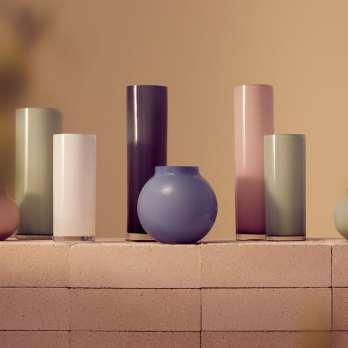 Opal Ball Vase Medium - Sky