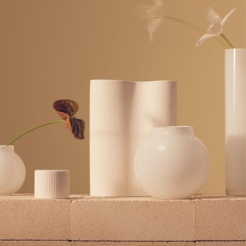 Opal Ball Vase Medium - White