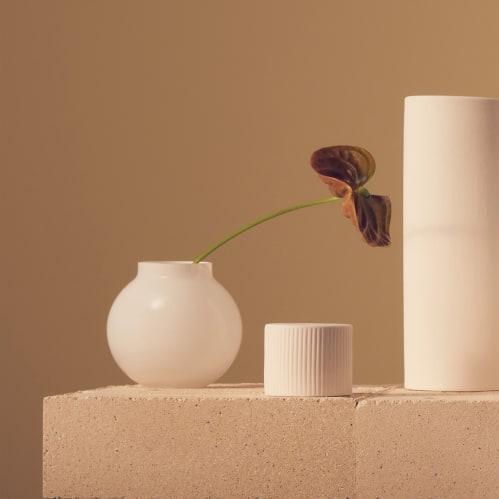 Opal Ball Vase Small - White