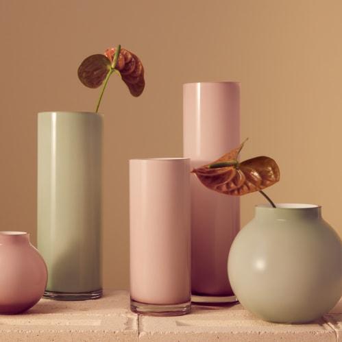 Opal Pillar Vase Large - Sage