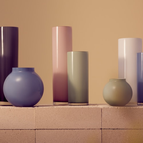 Opal Pillar Vase Medium - Sage