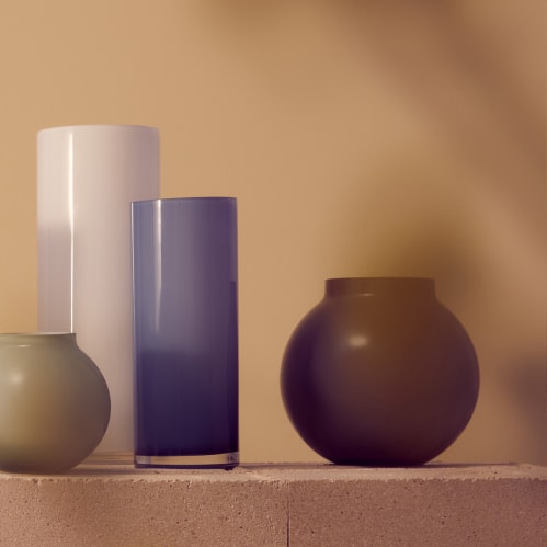 Opal Pillar Vase Medium - Sky