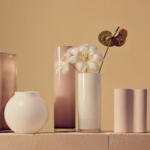 Opal Pillar Vase Large - White