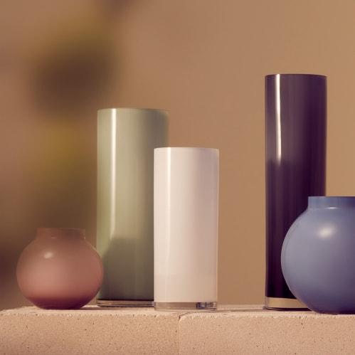 Opal Pillar Vase Medium - White