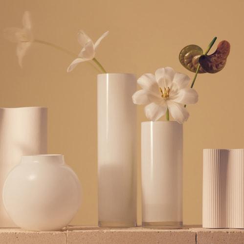 Opal Pillar Vase Extra Large - White