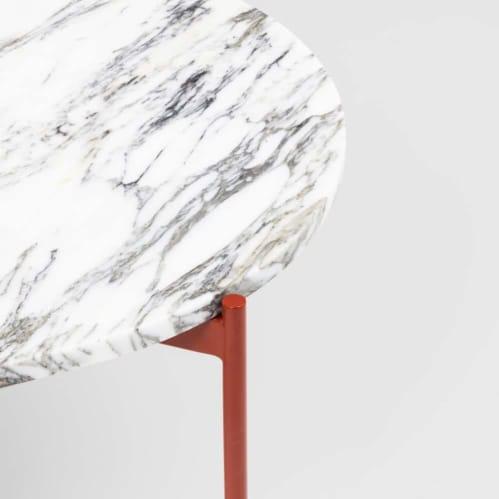 Rhonde Marble Coffee Table - Rust
