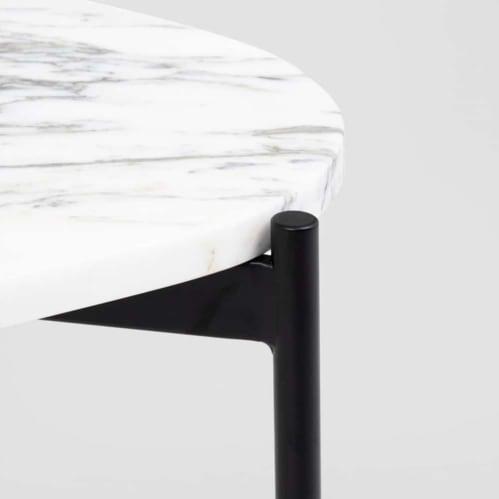 Rhonde Marble Side Table - Black