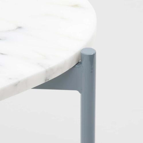 Rhonde Marble Side Table - Dusty Blue
