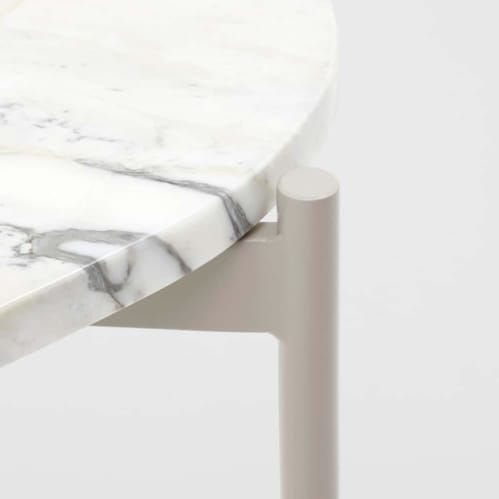 Rhonde Marble Side Table - Sand