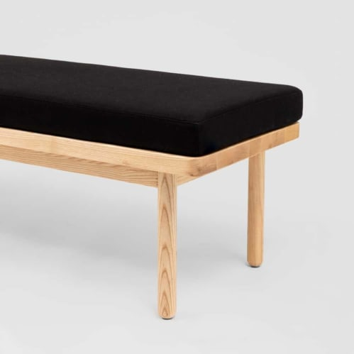 Scout Bench - Black / Timber
