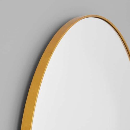 Bjorn Arch Floor Mirror - Brass