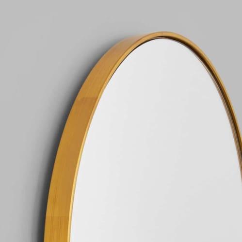 Bjorn Large Oval Mirror - Brass
