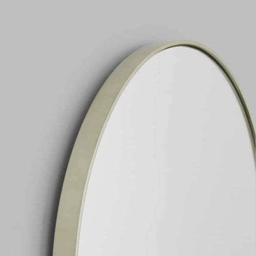 Bjorn Large Oval Mirror - Silver