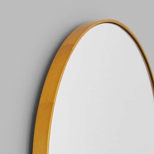 Bjorn Oval Mirror - Brass