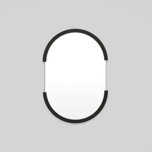 Dawn Oval Mirror - Black