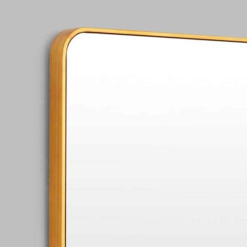 Flynn Curve Leaner Mirror - Brass