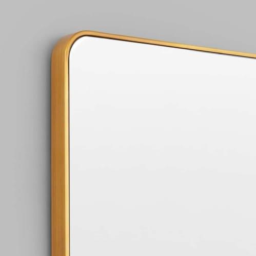 Flynn Curve Rectangle Mirror - Brass