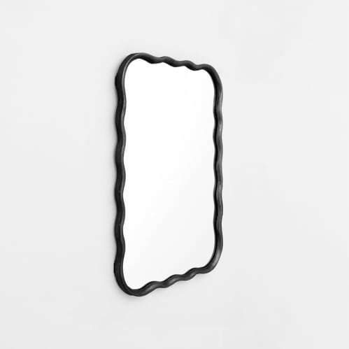 Jemima Rectangle Mirror - Black