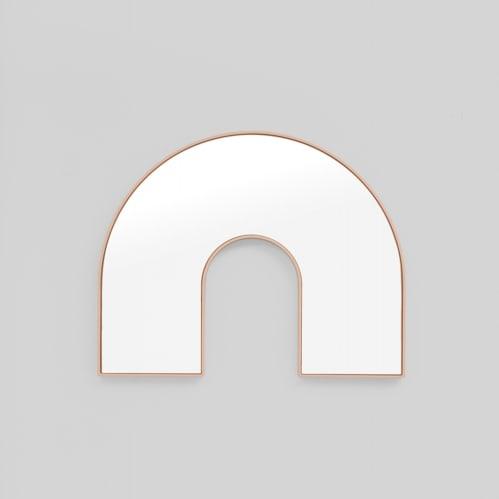 Kaari Arch Mirror - Powder
