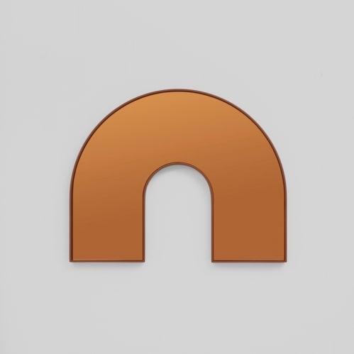 Kaari Arch Mirror - Rust/Rust
