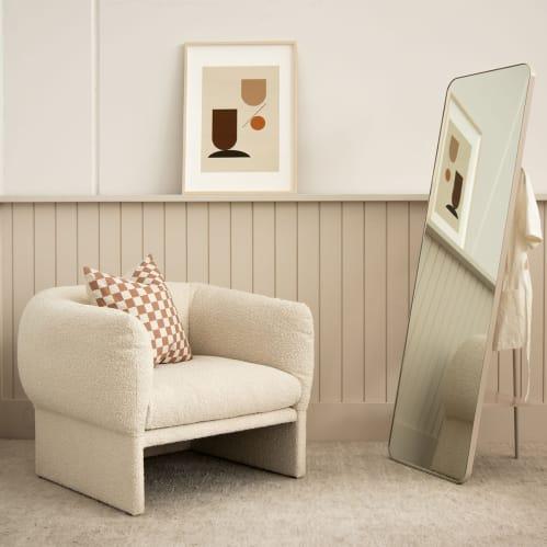 Pitch Leaner Mirror - Warm Beige