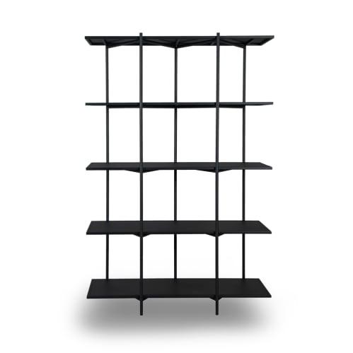Cross Shelving Unit Tall - Black