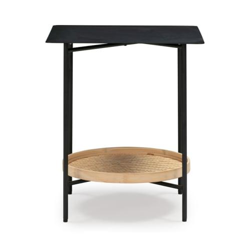 Explore Side Table - Black/Natural