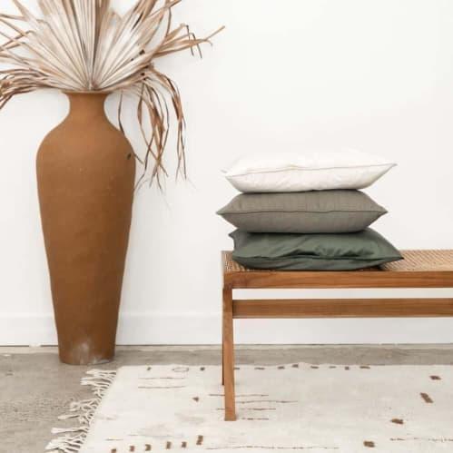 Mia Square Cushion - Linen Moss