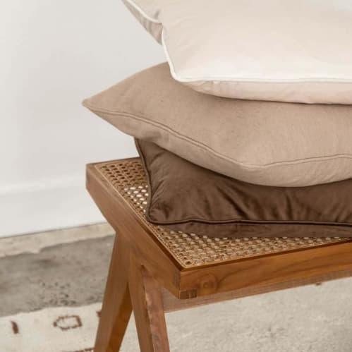 Mia Square Cushion - Linen Sand