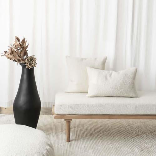 Bernard Rectangle Cushion - Boucle Ivory