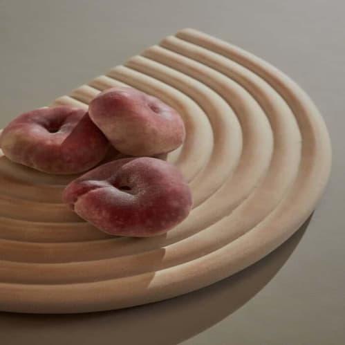 Ceramic Rainbow Tray - Beige