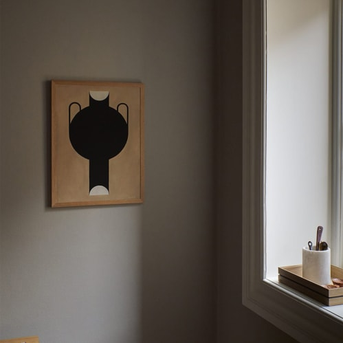 Silhouette of a Vase Print