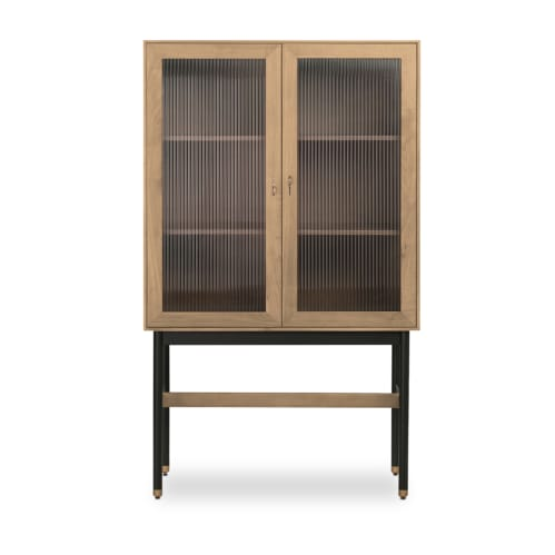 Tuck Storage Cabinet - Oak / Black