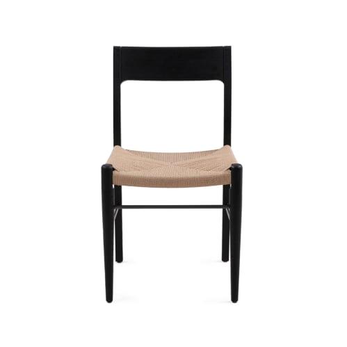 Mesh Dining Chair - Black / Natural